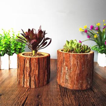 Drewniana doniczka ogrodowa pusta drewniana stawka projektowa sadzarka Candelstick Indoor Pot sukulenty strona główna roślina dekoracyjna doniczka z drewna tanie i dobre opinie CN (pochodzenie) Pulpit Nie powlekany Duszpasterska Kwiat zielonych roślin 1 Piece as photo