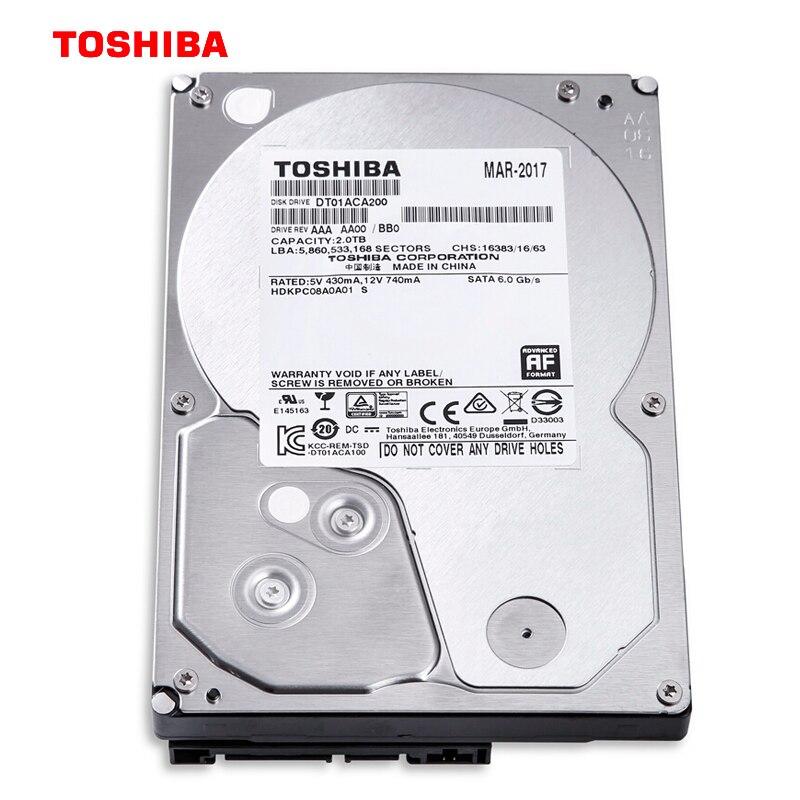 Toshiba HDD DT01ACA200 2TB 3,5 intern SATA III