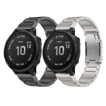 Titanium Alloy Watch Band For Garmin Fenix 6/6 Pro Replacement Watch Strap For Garmin Fenix 6 Pro Watchband Pulseira Titanium