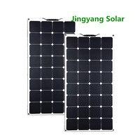 200 واط sunpower لوحة طاقة شمسية متساوية 2 قطعة من 100 واط لوحة طاقة شمسية رقيقة فيلم لوحة طاقة شمسية انحناء لقارب 12 فولت قوة البنك مقاوم للماء 300 واط-في خلايا شمسية من الأجهزة الإلكترونية الاستهلاكية على