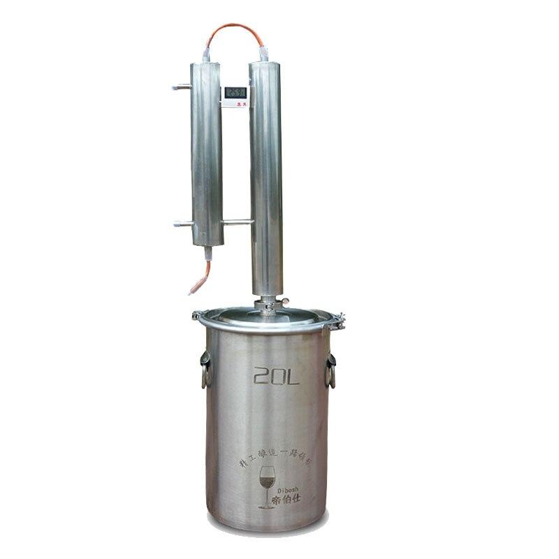 1PC Distillers Self brewed wine Liquor Fruit Liqueur Distiller Machine 20L Stainless Steel Household Brewing Distiller Machine Distillers    - title=