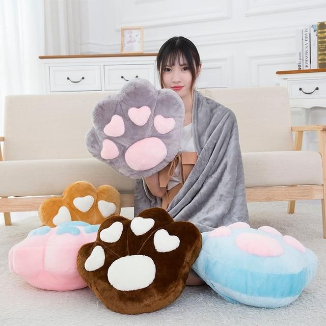 Kawaii Cat Paw Pillow Plush – Limited Edition
