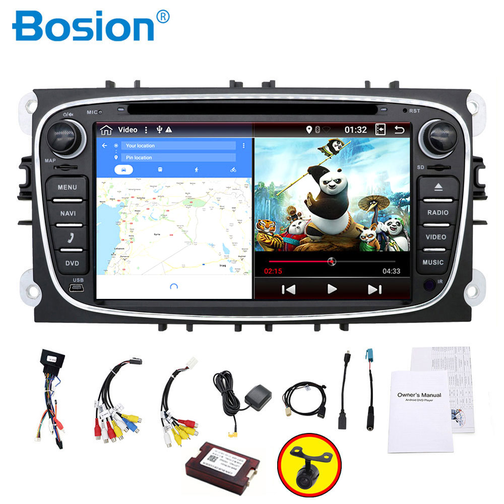 PX6 Car Radio 2 Din Android Car Dvd Cassette Player For Ford For Focus 2 Tape Recorder Gps Navigation Wifi Steering Wheel 4G RAM