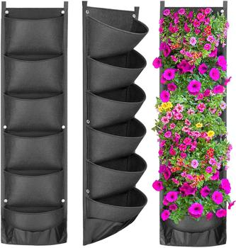 NEW DESIGN Vertical Hanging Garden Planter Flower Pots Layout Waterproof Wall Mount Hanging Flowerpot Bag Indoor Outdoor Use