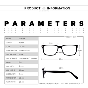 Image 5 - Retro Cat Eye Optical Myopia Glasses Frame Women Progressive Prescription Eyeglasses Frame Clear Degree Eyewear Frame Spectacles