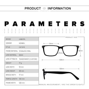 Image 5 - Retro olho de gato óptica miopia óculos quadro mulher prescrição progressiva óculos quadro claro grau óculos quadro