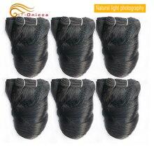 6 шт./лот, перуанские кудрявые волосы Remy, человеческие волосы Funmi Hair Romance Curl, натуральные волосы, перуанские волосы для наращивания, Переплетенные пряди