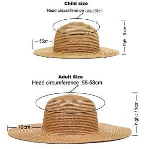Image 5 - Embroidery Personalized Custom LOGO Your Name straw hat Sun Hat Large Brim Straw Hat Outdoor Beach hat Summer Caps