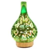 Umidificador de ar ultra sônico 3d coração led night light óleo essencial aroma difusor aromaterapia máquina umedecidor atomizador au plug|Umidificadores|Eletrodomésticos -