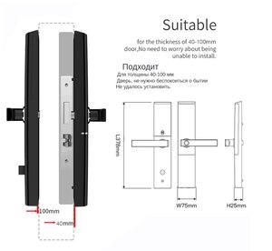 Image 5 - Akıllı parmak izi kapı kilidi güvenlik akıllı kilit biyometrik elektronik Wifi kapı kilidi Bluetooth uygulaması ile kilidini