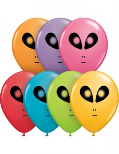 NEW 10pcs 12inch Alien Latex balloon Outer space theme extraterrestrial ballons birthday Party baby shower Decoration kids toys(China)
