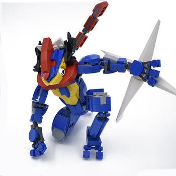 Greninja Building Blocks Toys For Children Pokemones Action Figure Model Kids Toy Original Design Assembling Bricks Toy 1