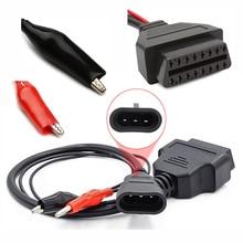 Obd Plug 3 PIN Obd2 adattatore connettore per FIAT 3 Pin a 16 Pin Auto ELM327 connettore Scanner Auto per Fiat 3 pin cavo diagnostico