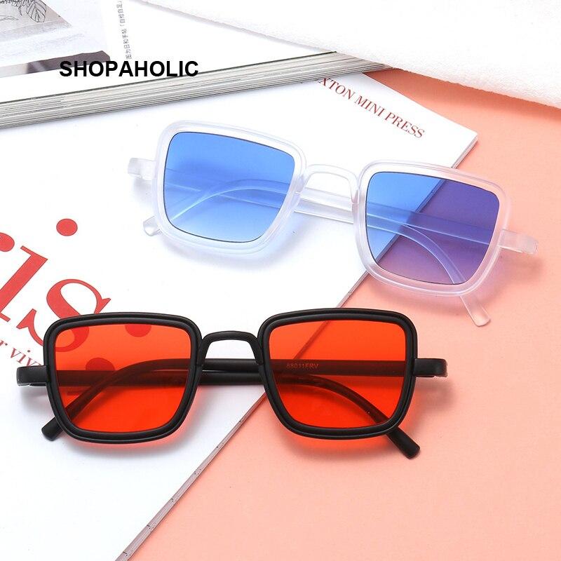 New Luxury Kabir Singh India Movie Sunglasses Men Square Gold Frame Cool Sun Shades Brand Design Black Glasses For Male UV400