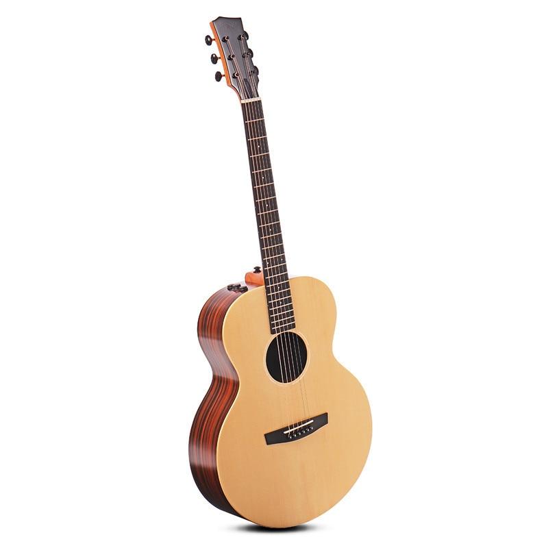 41 pouces 6 cordes Guitare Kit AJ baril Type guitares électriques épicéa bois acoustique Guitare Folk Instruments de musique professionnels