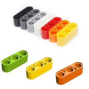 Technic Beams Liftarm 1X3 Толстая прямая деталь строительного блока Собирает Частицы DIY развивающие творческие игрушки
