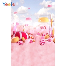 Yeele Candy Bar Party Photographic Backdrops Baby Child Birthday Photography Backgrounds Lollipops Custom For Photo Studio Vinyl