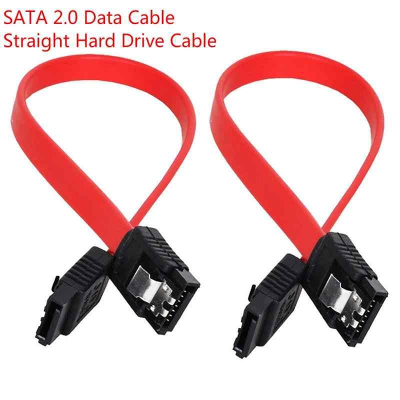Sata ii sata 2 sata 2.0 データケーブルストレートハードドライブケーブル 3 ギガバイト/秒 45 センチメートルsata 7 にSATA7Pデータケーブルコンピュータドロップシッピング