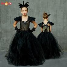 Tutu-Dress Wings Ball-Gown Halloween-Costume Birthday-Party Girls Elegant Kids Princess
