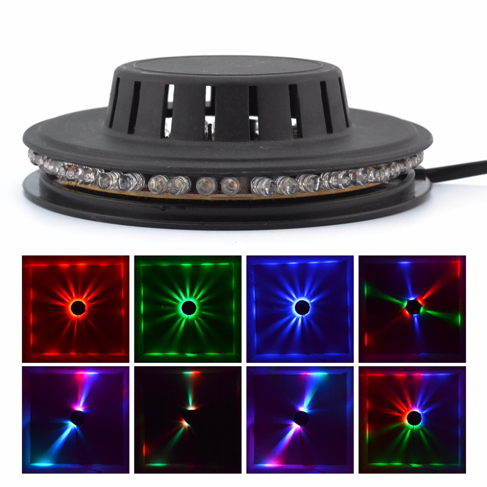 Mini 48 LEDs 8W RGB LED Sunflower Lights Decor Hanging Wall Lamp Disco DJ Party Show Rotating Horse Race Stage Lighting LS-RGB48