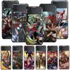 Smartphone Case For Samsung Galaxy Z Flip3 5G Z Flip 3 z flip ZF 5G Cover PC Capa Hard Funda Coque Marvel Avengers Captain