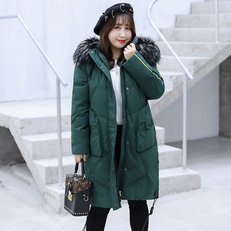 Women's Down Jacket Korean Down Coat Female Jacket Winter Coat Women Clothes 2020 Warm Long Tops Plus Size Manteau Femme ZT4603