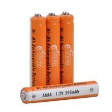 Bateria recarregável de aaaa, baterias ni-mh descarregadas do auto de 500mah baixo para a pena de superfície