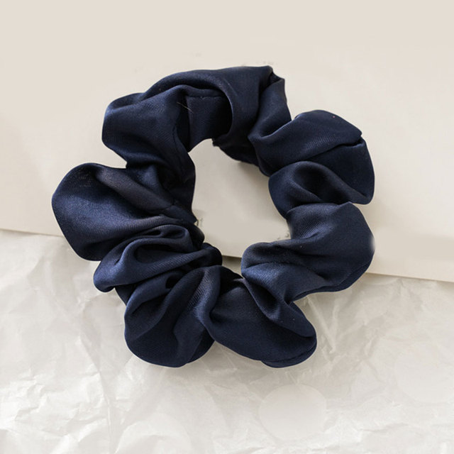 Popular Satin Silk Solid Hair Tie Elastic Scrunchie  Ponytail Holder Hair Rope