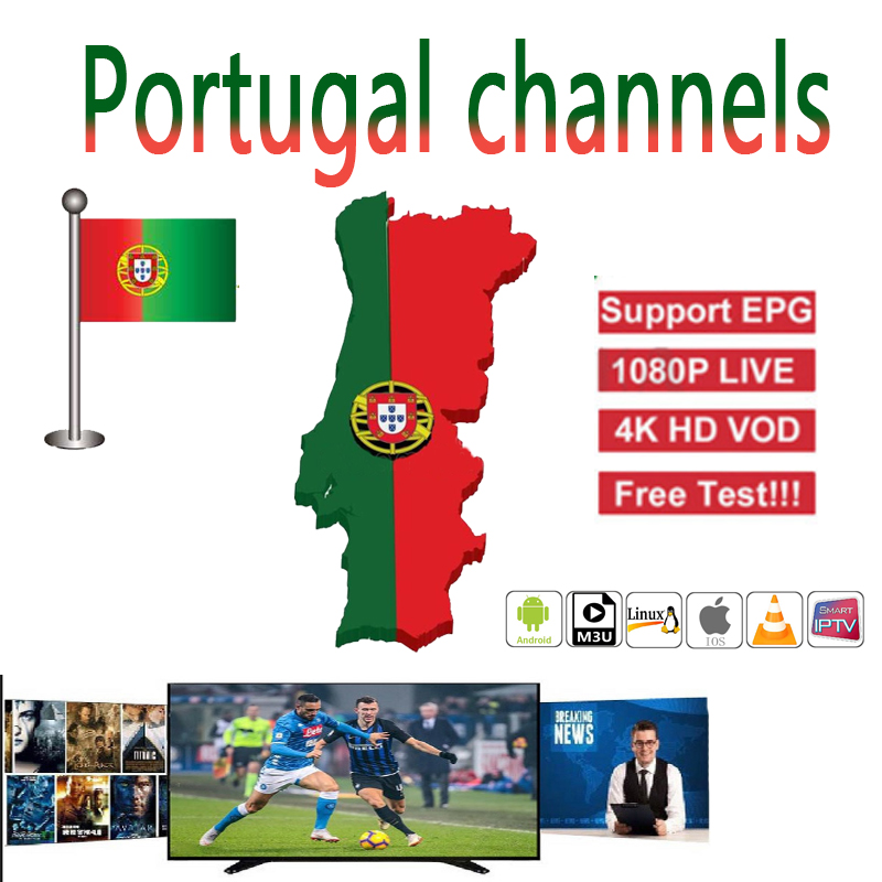 Full HD Portugal IPTV 4K 8000 Live 6000+VOD Adult Europe Dutch French Spain Germany Itlay Arabic USA IPTV Subscription M3U Smart