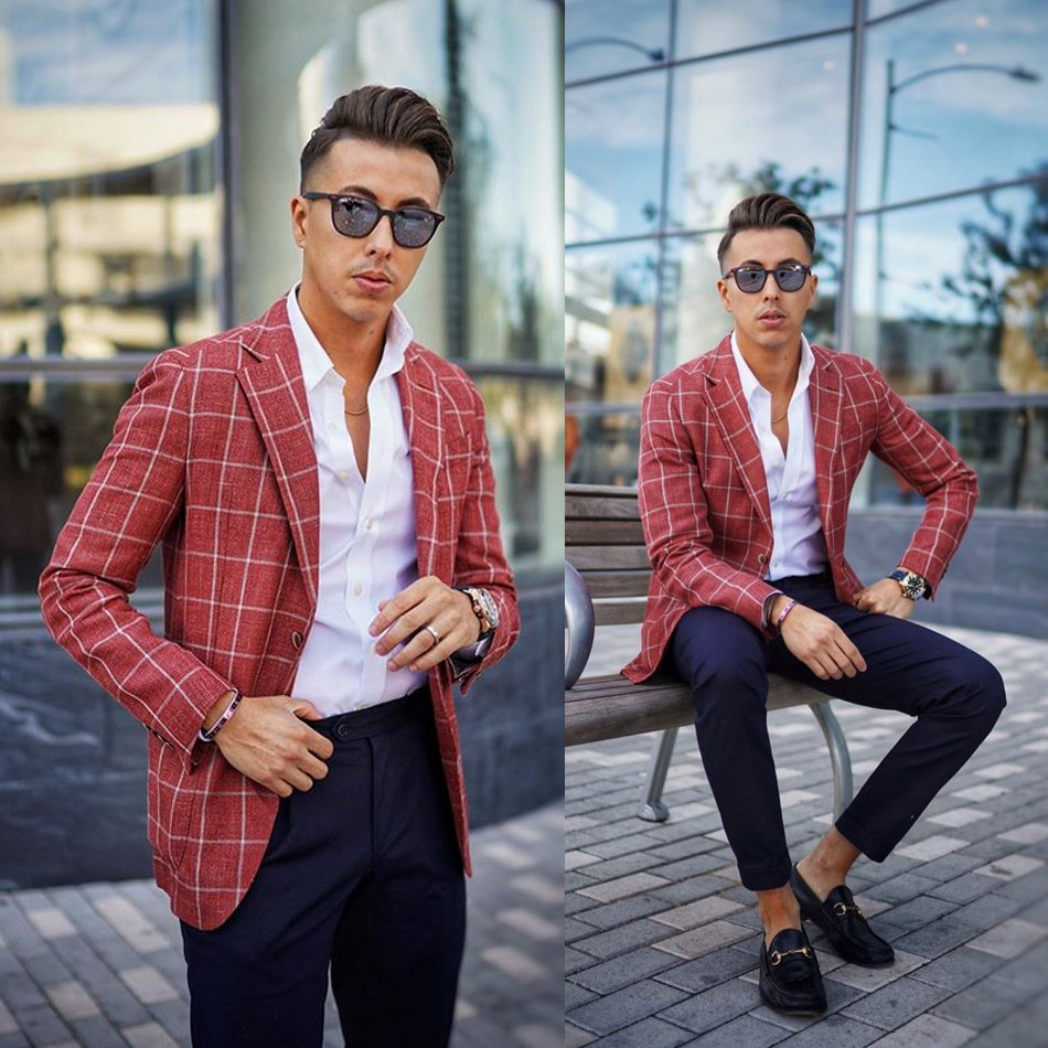 2020 Newest Mens Suits Polyester Blend Notched Lapel Costume Homme Formal Men Suit Custom Made
