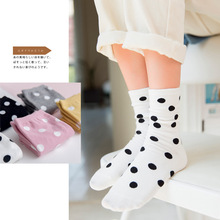 Spot Socks Retro Polka Dot Elastic Loose Casual Preppy Women Ms. socks polka
