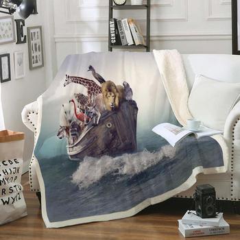 Dzikie zwierzęta Sherpa narzuta na łóżko lew futro rzut koc żyrafa tygrys miękki rzut koc nastolatki dzieci Drop Ship tanie i dobre opinie MOVE OVER Sherpa Fleece Przenośne Wild Animals Na wiosnę jesień Sherpa Fleece Blanket Klasa a PRINTED Nowoczesne Rectangle