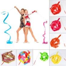Красочный дизайн танцевальная лента для гимнастики художественная балетная вертлюга 4 м художественная гимнастика балетная вертлюга