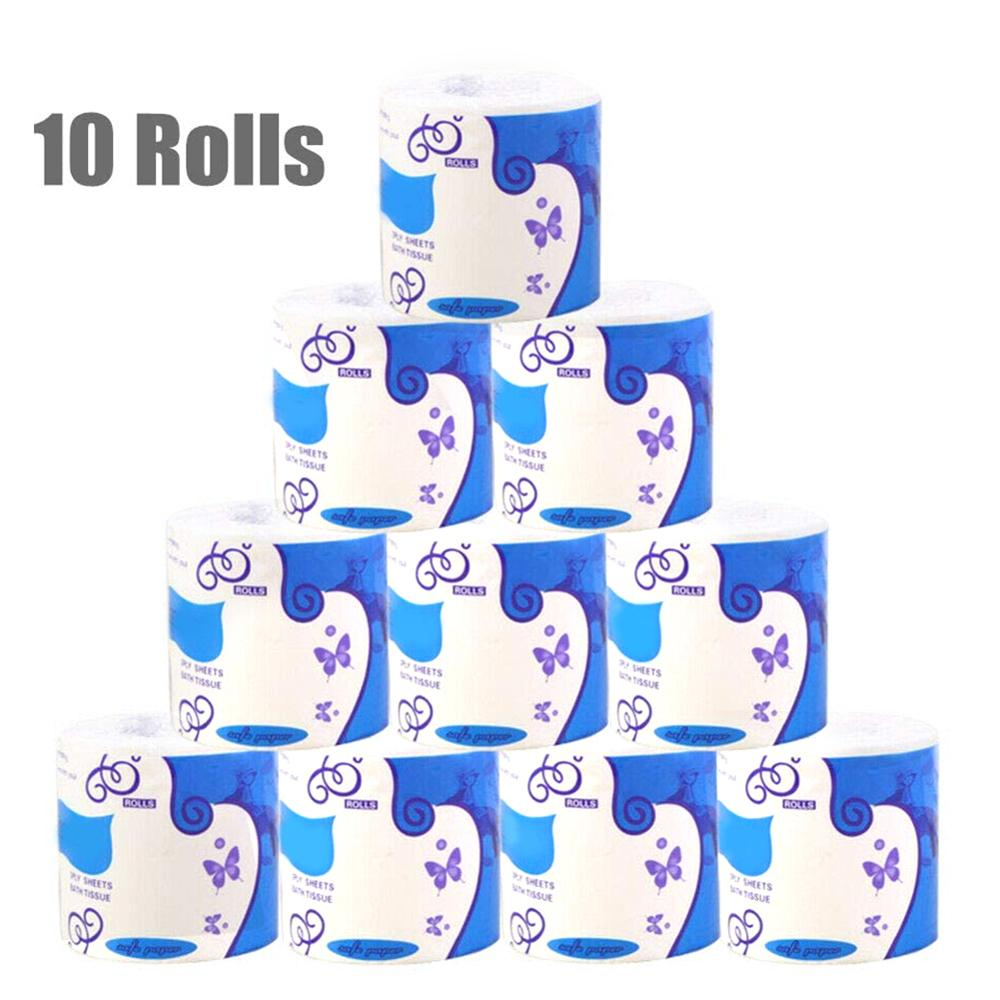 Individual Package White Toilet Paper Toilet Roll Tissue Roll 3Ply Paper Towel Tissue Household Toilet Paper Toilet Tissue Paper