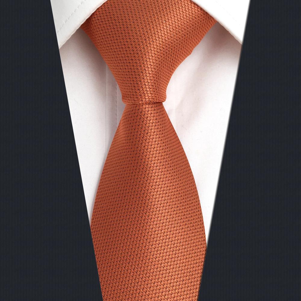 CZ16 Solid Orange Mens Slim Tie Skinny Necktie For Men 6cm