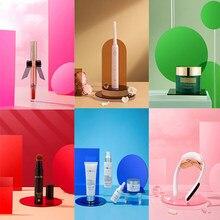 Accessoires de photographie géométriques transparents en acrylique, bijoux cosmétiques, produits de soins de la peau, accessoires Photo, affichage de comptoir
