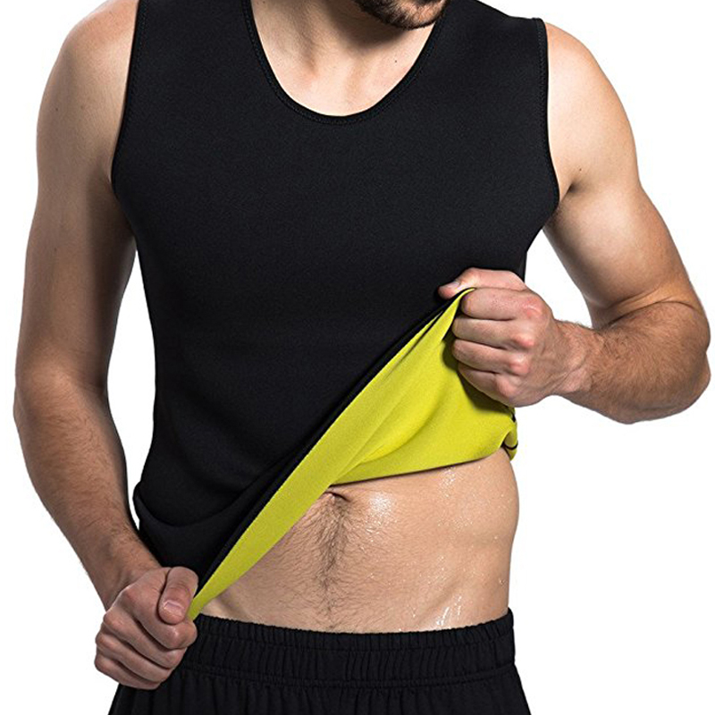 Mens Body Shaper Vest Modeling Fat Burning TShirt Black Slimming Belt Belly Sweat Weight Loss Waist Trainer