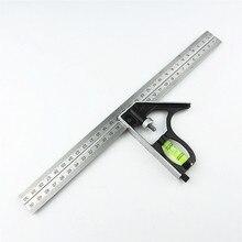 """لتقوم بها بنفسك دقيقة الفولاذ المقاوم للصدأ أدوات قياس الألومنيوم مزيج المحمول ساحة ورشة الأجهزة زاوية مستوى الكحول 12 """"(300 مللي متر)"""