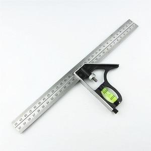DIY Precise Stainless Steel Measuring Tools Aluminium Combination Mobile Square Workshop Hardware Angle Spirit Level 12