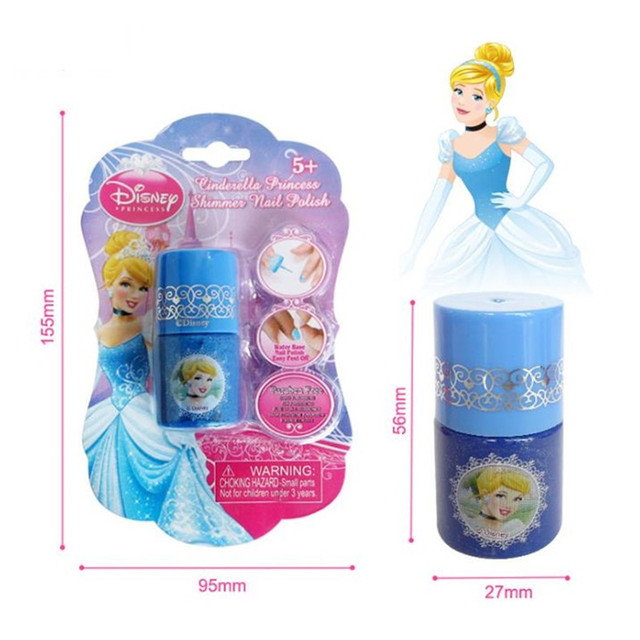 Disney Water-soluble Nail Polish Tearable Pretend Play Toys Children Girls Makeup Toy Gift 5