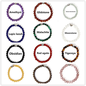 Bohemian Handmade Natural Stone Rings Women with Stainless Steel Bead Multi Color Stretch Rope Wedding Promise Ring Adjustable