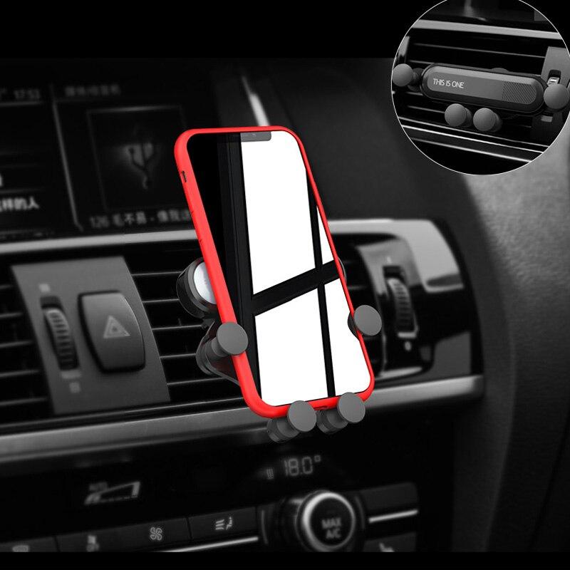 Гравитационный Автомобильный держатель для телефона с креплением на вентиляционное отверстие для Toyota Corolla RAV4 Camry Prado Avensis Yaris Hilux Prius Land Cruiser