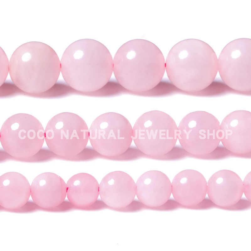 LanLi 6/8/10mm natural jewelr Rose Pink Quartz Loose Beads Natural Stones Suitable for DIY Fashion bracelet necklace Accessories