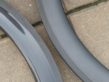 CT5 wysokiej jakości felgi bezdętkowe z pełnym węglem bazaltowe obręcze kół hamulcowych głębokość 50mm szerokość 25mm w tym 1 para tanie i dobre opinie FLYXII 20-24 h Glossy Matt Rowery drogowe 700c CARBON V hamulca