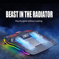 Gaming Laptop Cooler TWO Fan Two USB Port Led RGB Lighting Notebook Stand for Laptop 12-17 inch base para Laptop Cooling Pad