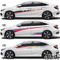 Автомобильные наклейки для Honda Civic 2016-2019  автомобильные наклейки с цветами FC1  декоративные модифицированные наклейки на тело  автомобильные...