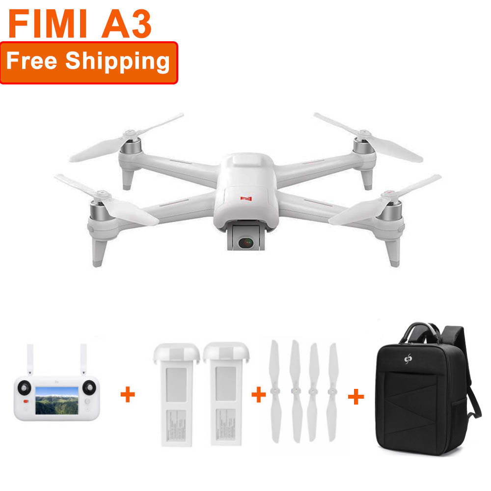 Gimbal Drone Quadcopter 1080p-Camera Fimi A3 2-Axis RC for GPS 1KM FPV 25-Minutes  title=
