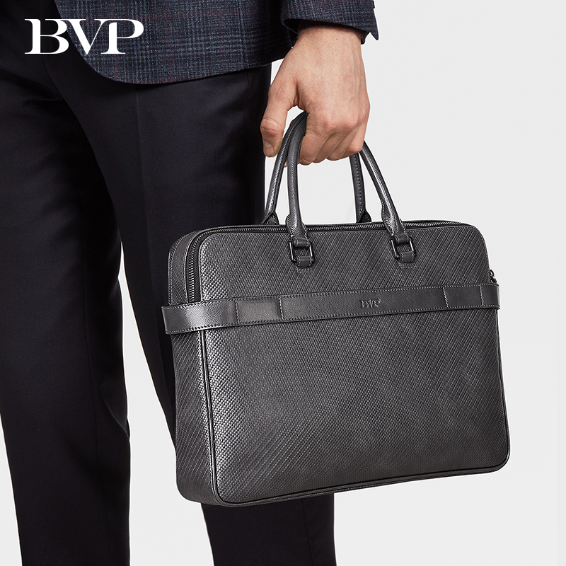 Luxury Genuine Leather Men Briefcase 13 Inch Laptop Bag Real Leather Gray Man Business Bag Male Briefcase Document Office Bag 50