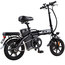 Folding Electric Bike Bicycle 350W Brushless Motor with 48v 14.4Ah Lithium Ion Battery Fat Tire 14