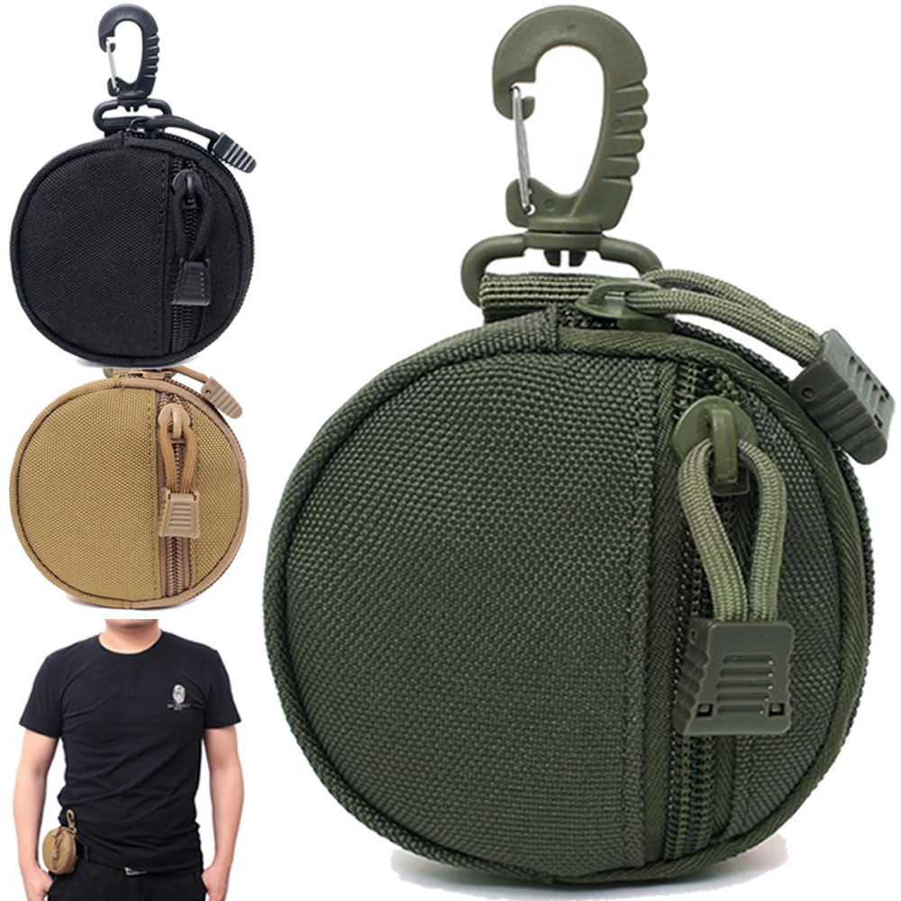 Tactical Wallet Bag 1000D Accessory Pocket Waterproof Money Pouch Pack Military Coin Pocket With Hook Waist Belt Bag For Huntin